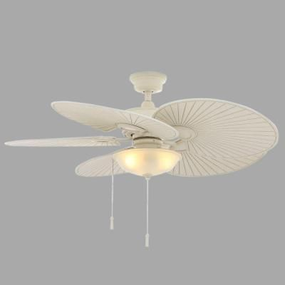 Vintage white outdoor ceiling fan