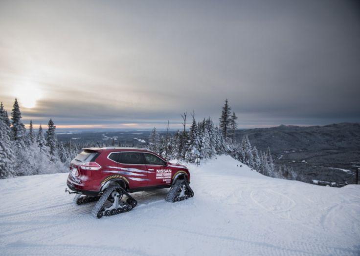 Voici une voiture que vous pourriez croiser sur les pistes puisque ce véhicule est équipé pour rouler sur la neige et remonter les pentes enneigées grâce à des chenillettes à la place des traditionnelles roues. Un sacré concept car proposé par Nissan. Regardez la vidéo pour voir la voiture en situation!