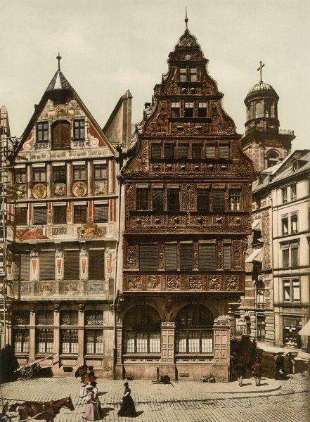 Bürgerstolz: Elf Fachwerkhäuser vereinte die Stadt Frankfurt am Main im Laufe...