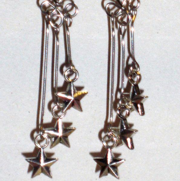 Ohrringe - Ohrringe Stern Sterne Damen Ohrschmuck Modeschmuck - ein Designerstück von ausgefallene-Ohrringe bei DaWanda
