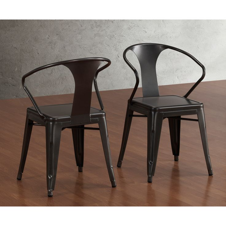 Add a stylish touch to your space with these beautiful charcoal grey chairs. A stackable design and non-mar foot glides complete this set of four chairs.