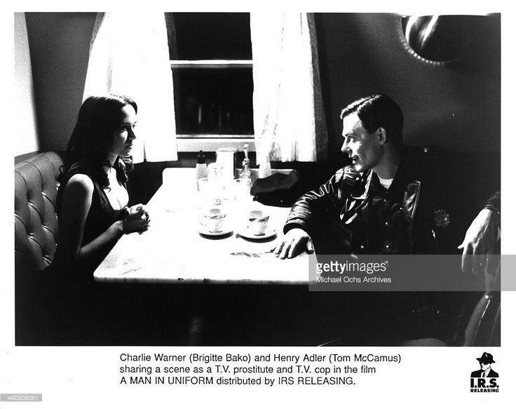 Actress Brigitte Bako and actor Tom McCamus in a scene from the movie 'A Man in Uniform', circa 1993.