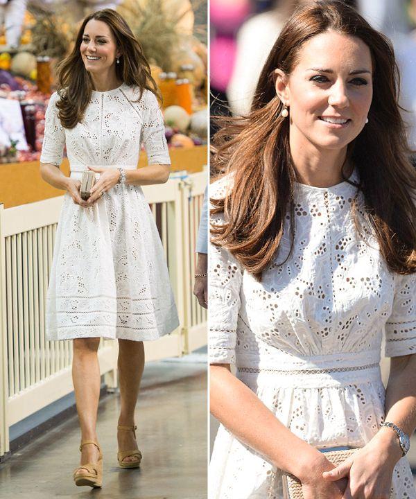Já repararam nos vestidos brancos de Kate Middleton? São ótimas inspirações para o casamento civil! Vem ver e se inspirar!