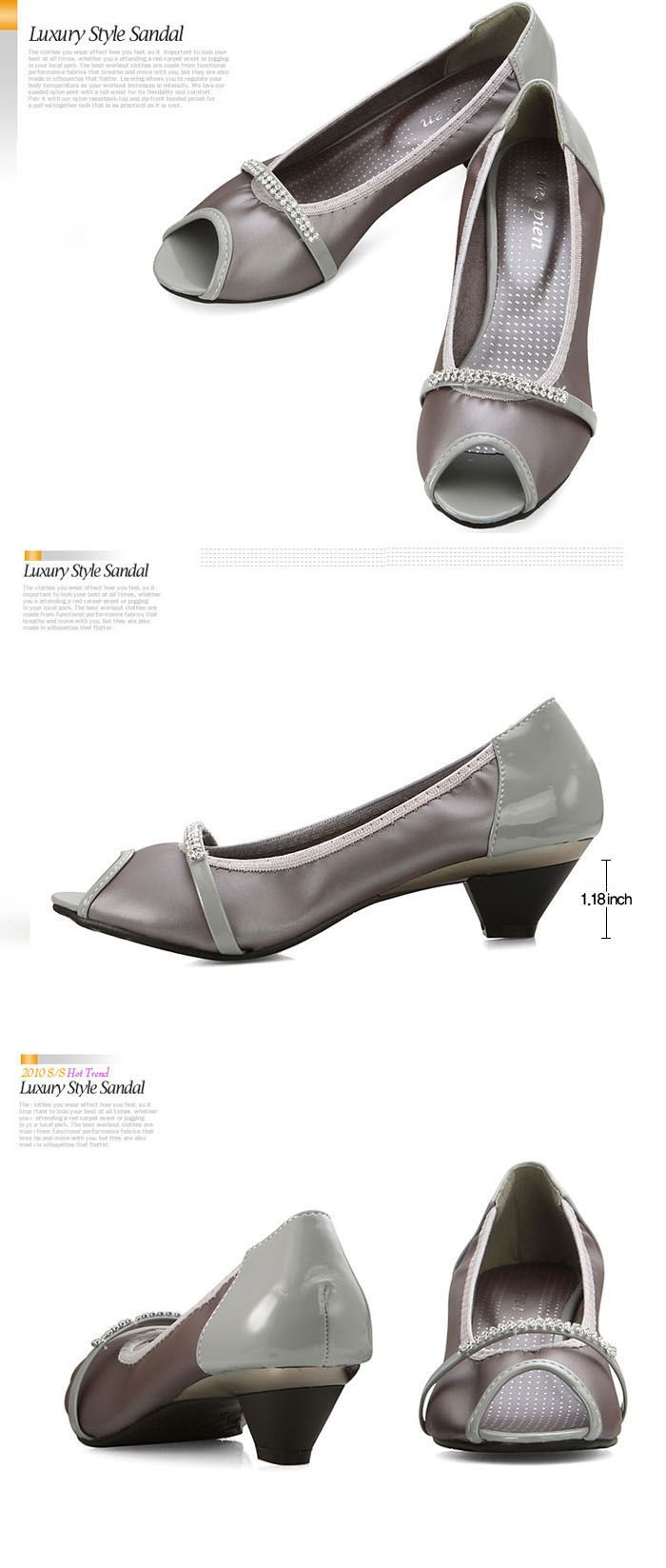 women's grey pumps | grey pump womens shoes condition new with box type pump materials faux ...