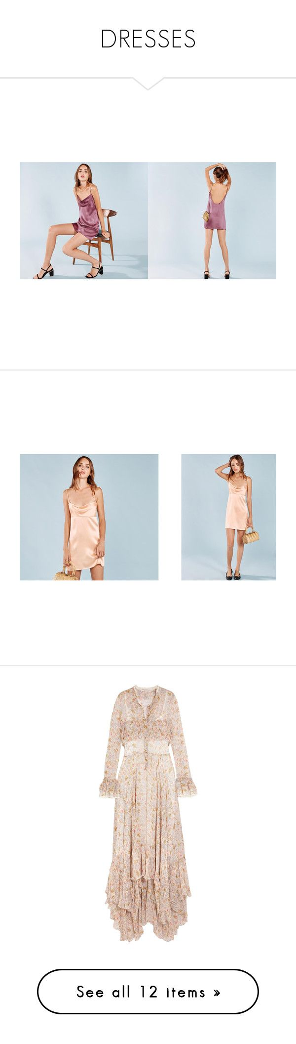 """""""DRESSES"""" by tish-nyu ❤ liked on Polyvore featuring dresses, plum dresses, cowl neck dress, blue color dress, blue cowl neck dress, scoop back dress, tight fitting dresses, blue dress, cream and high low maxi dress"""