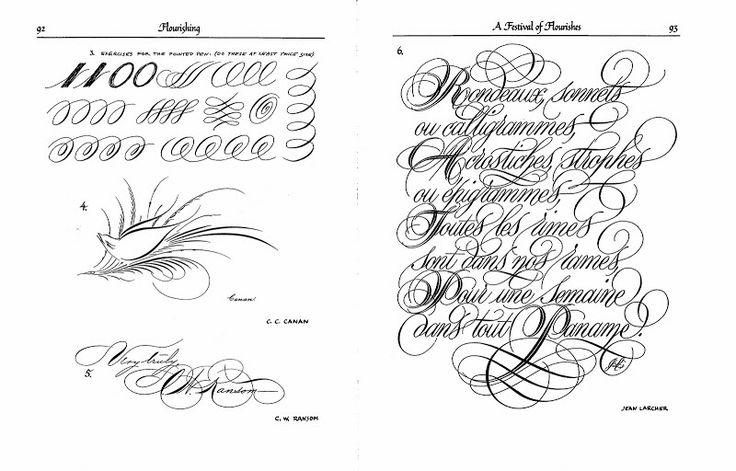 66 best Calligraphy Flourishes images on Pinterest