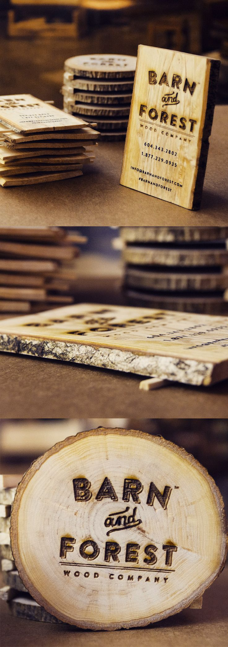 Creative Business Card Design made of Wood