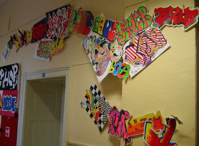 Foto - Instalace graffiti