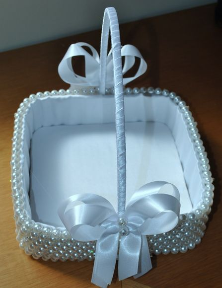 cesta florista em pérolas | Belissima Noivas & Acessórios | Elo7