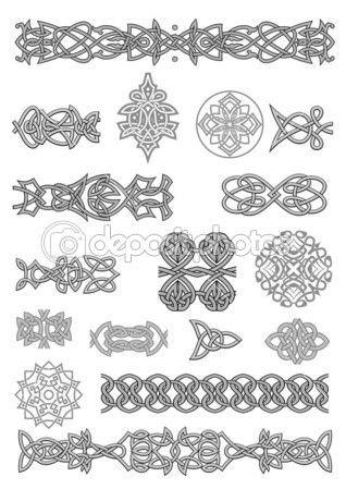 Кельтские орнаменты и узоры — Векторная картинка #15760303