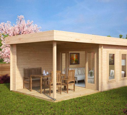 modernes gartenhaus mit veranda lucas e moderne. Black Bedroom Furniture Sets. Home Design Ideas