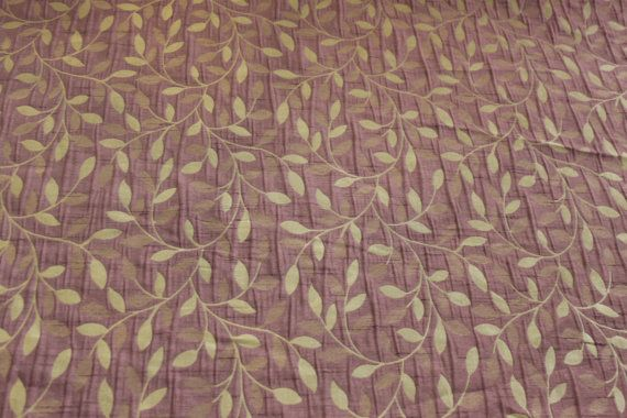 Small floral leaves purple Upholstery floral brocade Curtains bedding duvet, sewing Roman Blinds, Duvet covers Fabric Supplies - Per Metre