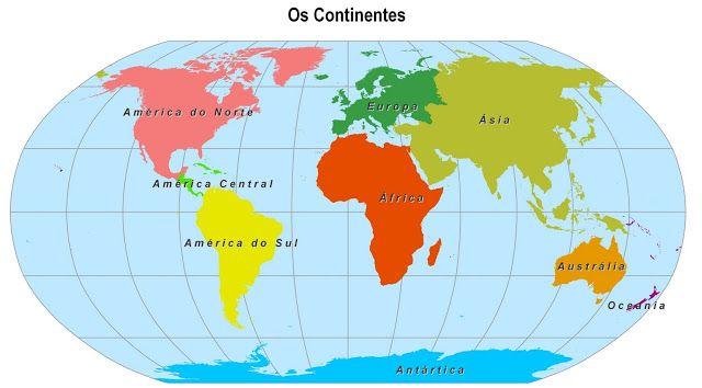 Continentes E Oceanos Mapa Mundi Mapa Continentes