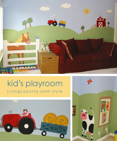 Playroom Mural Ideas 31 best mural ideas images on pinterest child room bedroom boys farm mural designed by amy locurto at livinglocurto sisterspd