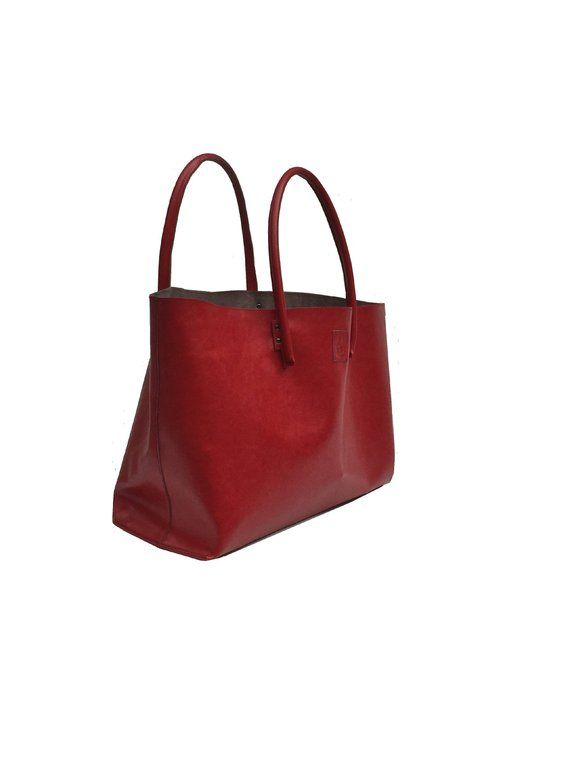 2dc68fd4c8793 XXL leather bag for wholesale shopping tote Bag XXL Shopper leather Shopper  bag Ledershopper Red handmade in 2018