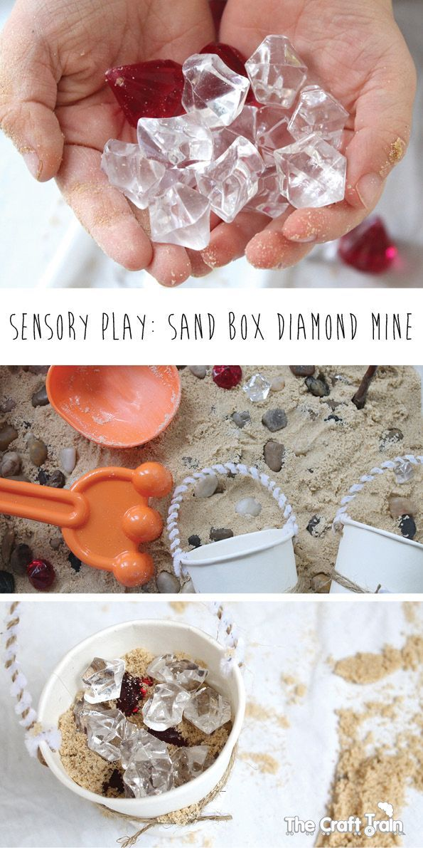 Diamond mine small world play for kids! A fun sensory play experience