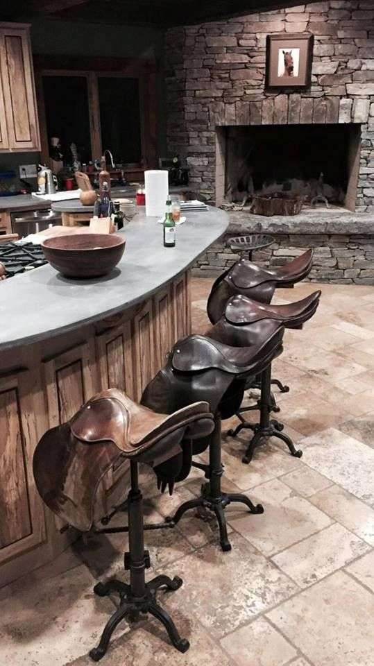 English saddle bar stools