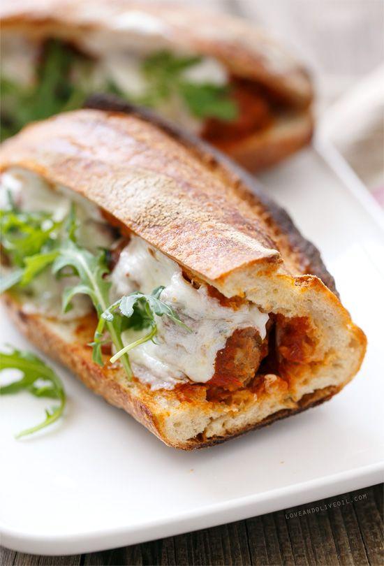 Spicy Italian Meatball Sandwiches