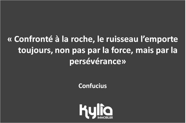Citation du jour : « Confronté à la roche, le ruisseau l'emporte toujours, non pas par la force, mais par la persévérance » Confucius