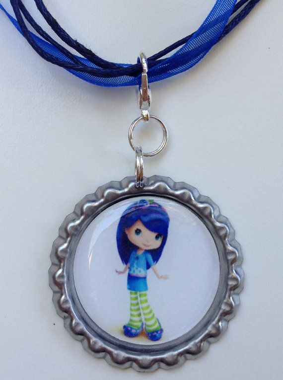 Blueberry Muffin Boutique Bottlecap Pendant by OliverandMay, $4.85