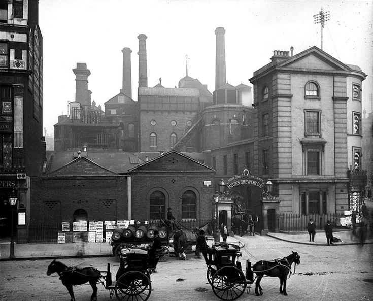Meux's Horseshoe Brewery Tottenham Court Road. Sir Henry Meux leased Theobalds Park in Hertfordshire from 1820. His son, Henry Bruce Meux inherited the property, and moved there with Lady Valerie Susie in 1885.
