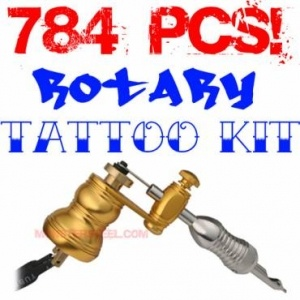 Complete Apprentice Rotary Tattoo Machine Kit with USA Inks