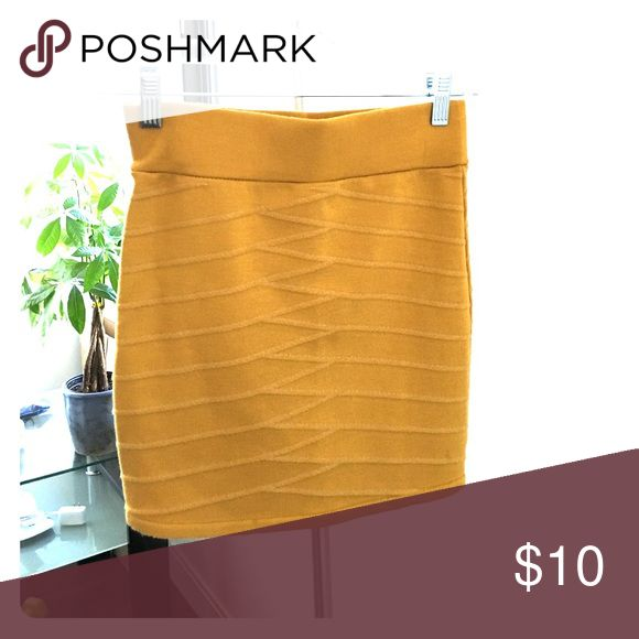 Mustard yellow bandeau skirt Mustard yellow flattering mini skirt Skirts Mini