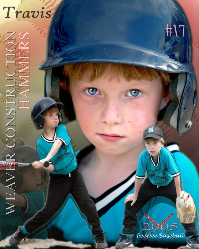 Youth Baseball Sports Poster
