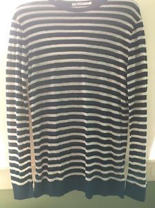 Long Sleeve TOP Stripe Blue AND White T BY Alexander Wang Size XS 8AU | eBay