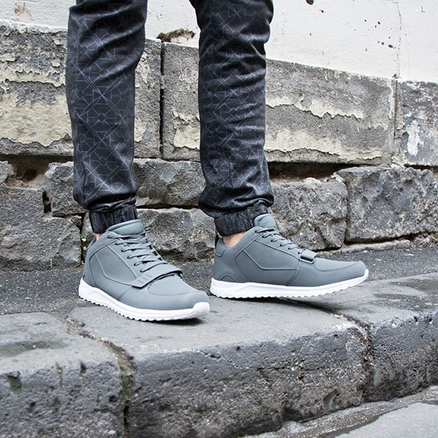 Men's Geo Print Cuff Chinos and Cross Strap Sneaker. theguideonline.com.au