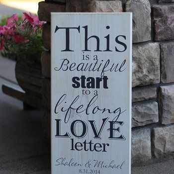 This Is A Beautiful Start To Lifelong Love Letter Wedding Newlywed