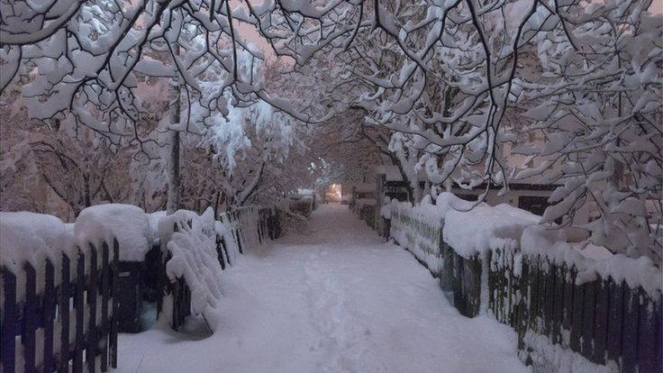 Record breaking amounts of snow fell in the city of Reykjavik in Iceland last night and the pictures are amazing.