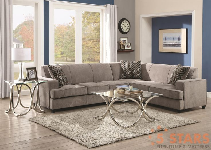 This sectional sofa with sleeper mattress features a clean and tidy style that will have your home looking updated and uncluttered. It features straight lines t