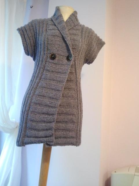Wisteria Field (pattern Molten by Sarah Hatton) using Rowan Felted Tweed DK