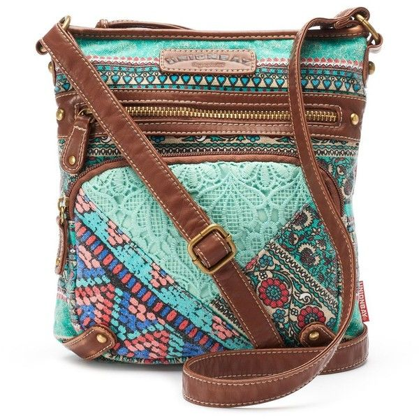 Unionbay Lace Fl Crossbody Bag Women S Turquoise Blue 23 Liked On Polyvore Featuring Bags Handbags Shoulder Brown Cro