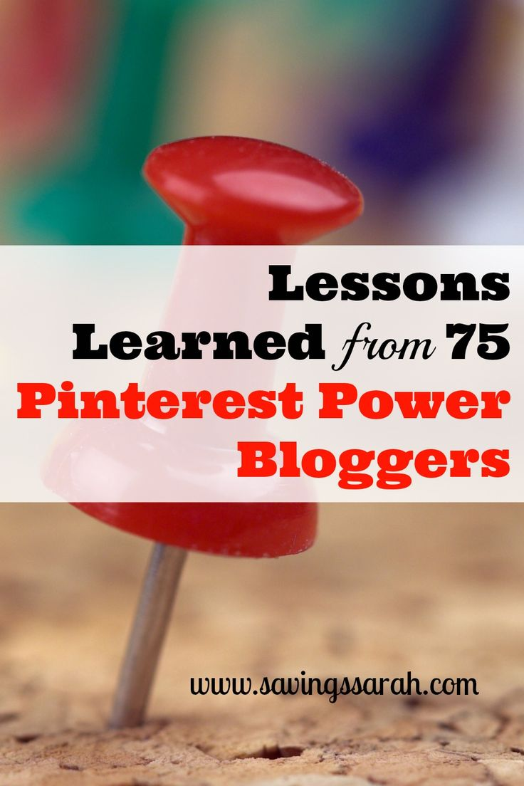 So much can be learned from those Pinterest Power Bloggers who have 100,000 or more followers. Don't delay! Check out the great lessons and links to 75 of these bloggers.