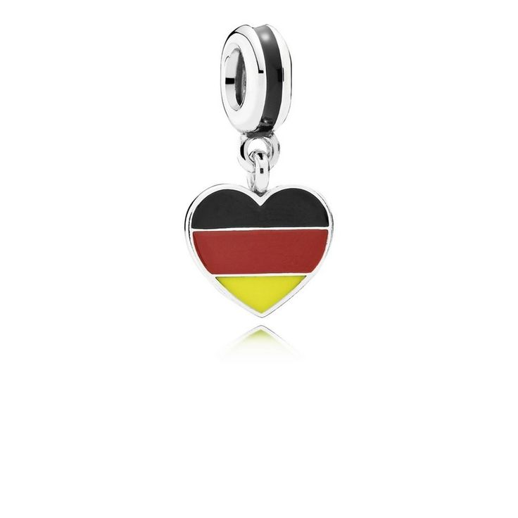 Germany Heart Flag, Black, Red & Yellow Enamel - Pandora US | PAN