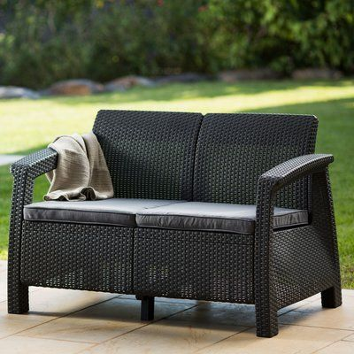 cushions wicker outdoor loveseat the patio loveseats sofa furniture lawson honoroak and home sofas with
