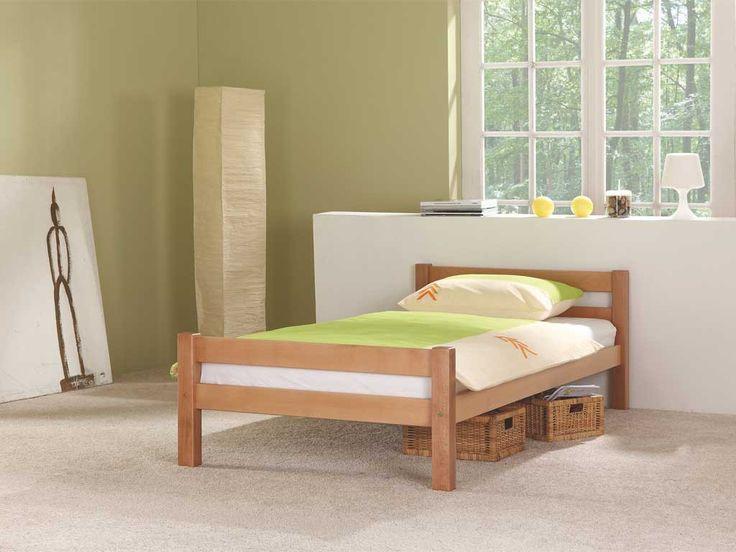 Łóżko z drewna bukowego Luiza 140