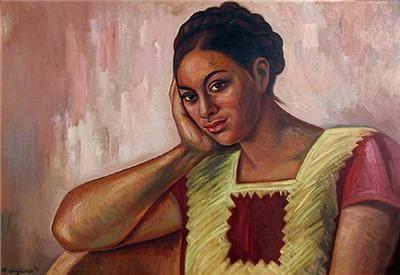 Raúl Anguiano - Muchacha de Juchitan - Arte México - Informacion de la Obra