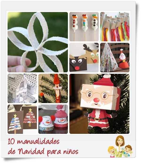 41 best ideas para decorar en navidad images on pinterest for Manualidades de navidad para ninos