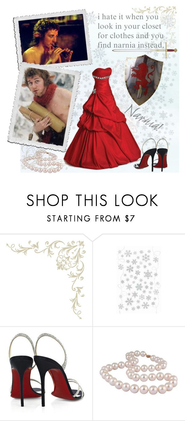 """Mr Tumnus"" by chomiczynka ❤ liked on Polyvore featuring C.R.A.F.T., Zone, Christian Louboutin, narnia, james mcavoy and the chronicles of narnia"
