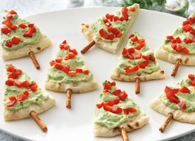 Christmas trees appetizer recipe.