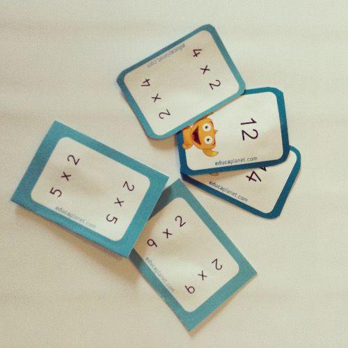 Vamos a aprender las tablas de multiplicar usando flashcards, tarjetas mnemotécnicas donde aplicar la propiedad conmutativa.