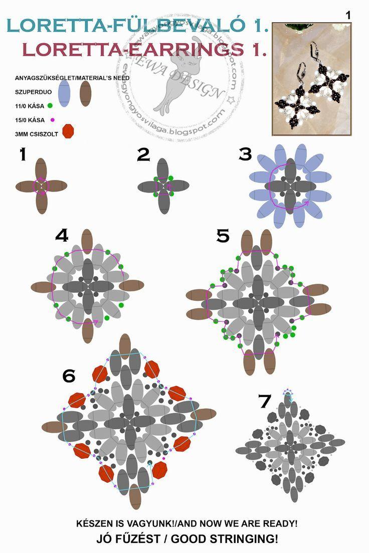 Loretta earrings pattern - 2:
