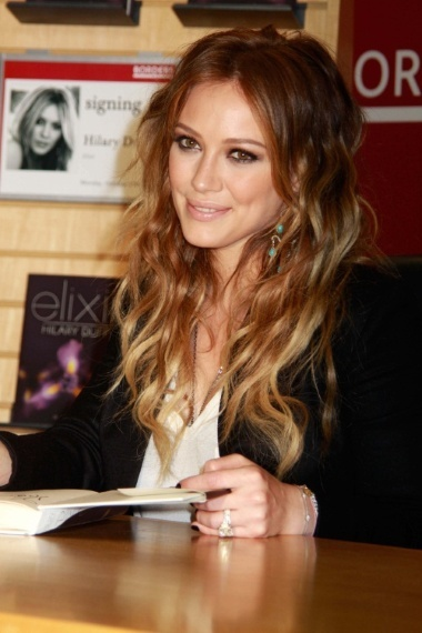 Hillary Duff ombre