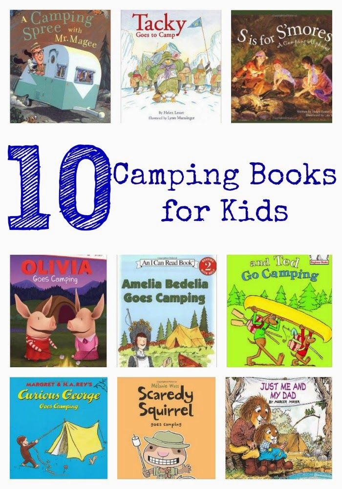 We can't wait to go camping later this summer. Love these 10 Camping Themed Books for Kids!