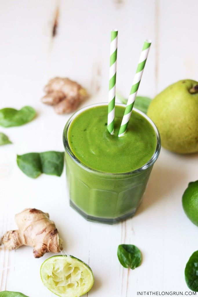pear ginger lime green smoothie