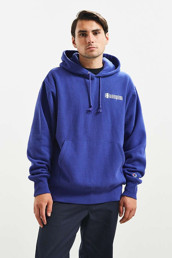 243aac68317c Slide View  1  Champion Triple Script Reverse Weave Hoodie Sweatshirt