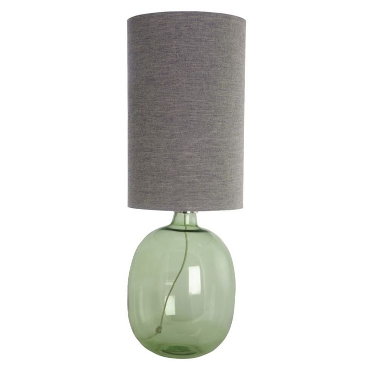Green Glass Lamp at Idyll Home